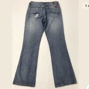 7 For All Mankind Jeans Flare Mid Rise Size 28